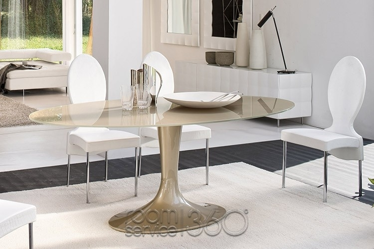 Imperial Oval Glass Dining Tabletonin Casa | Room Service 360° Intended For Imperial Dining Tables (View 17 of 25)