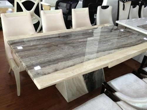 Imported Italian Marble Dining Tables, मार्बल डाइनिंग In Dining Tables (Image 12 of 25)