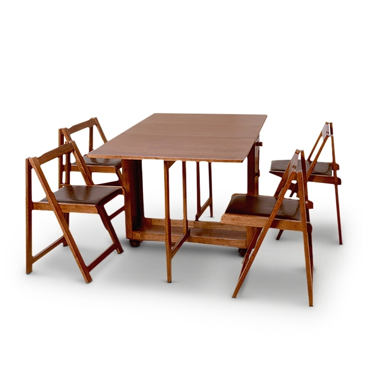 Impressive Dining Table Set 4 Seater Piece Enchanting Person Room On Throughout Dining Tables With Fold Away Chairs (View 25 of 25)