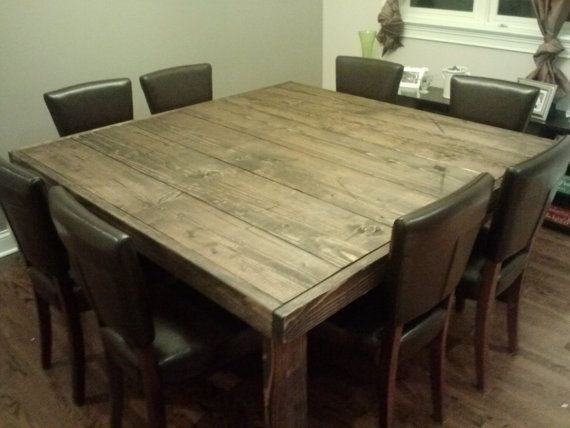 Impressive Lovable Reclaimed Wood Square Dining Table 17 Best Ideas Within Dark Wood Square Dining Tables (Image 15 of 25)