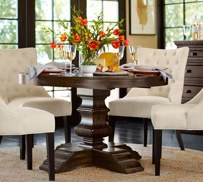 Impressive Round Dining Room Chairs With Well Round Dining Table For Inside Pedestal Dining Tables And Chairs (Image 15 of 25)