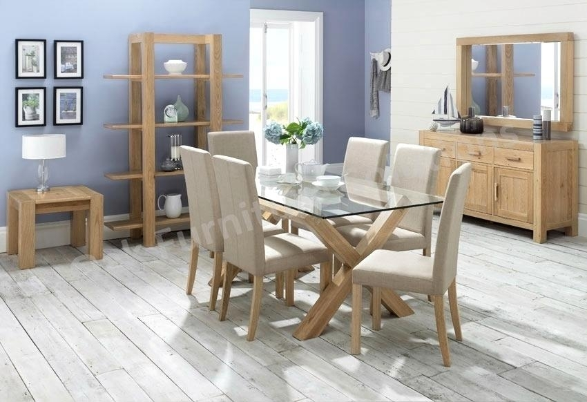 Incredible Oak Table Chairs Nite Glass Dining Room Furniture Within Oak And Glass Dining Tables Sets (Image 11 of 25)