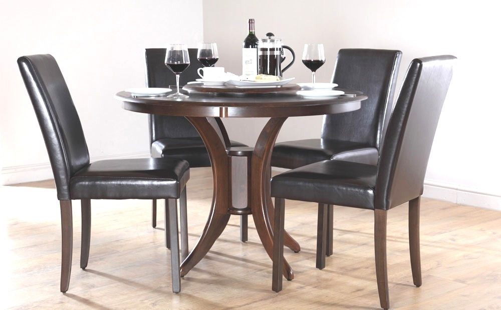 Incredible Stylish Small Dark Wood Dining Table Dining Table Dark Pertaining To Small Dark Wood Dining Tables (Image 19 of 25)