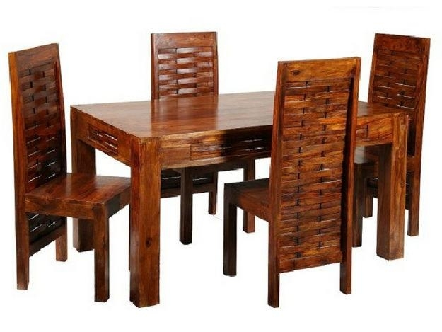 Indian Dining Room Furniture | Dining Room Wooden Furniture Sets Throughout Indian Dining Tables And Chairs (Image 9 of 25)