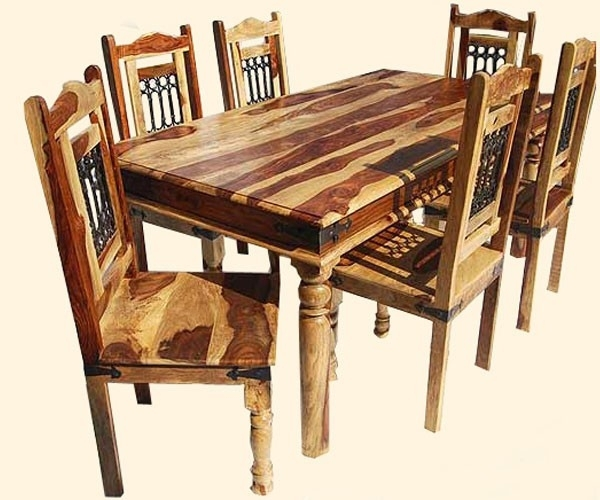 Indian Dining Table Beautiful Indian Sheesham Dining Table And 4 For Indian Dining Tables And Chairs (View 8 of 25)