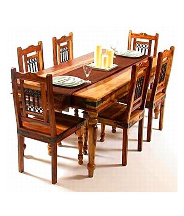 Indian Dining Table Beautiful Indian Sheesham Dining Table And 4 In Indian Dining Chairs (Image 11 of 25)