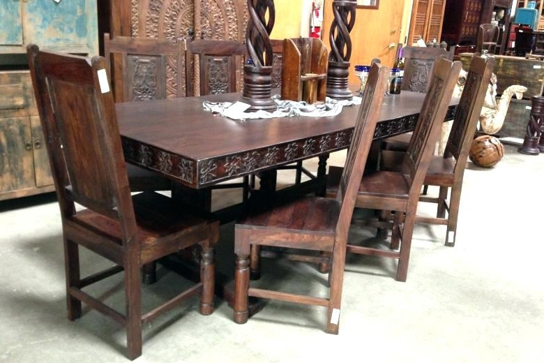 Indian Dining Table Room Sets Design Style Wooden Designs In Indian Style Dining Tables (Image 10 of 25)