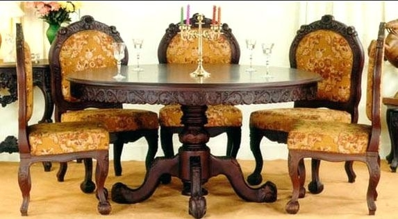 Indian Dining Table Traditional Dining Table Dining Tables Wooden Inside Indian Dining Tables (Image 14 of 25)