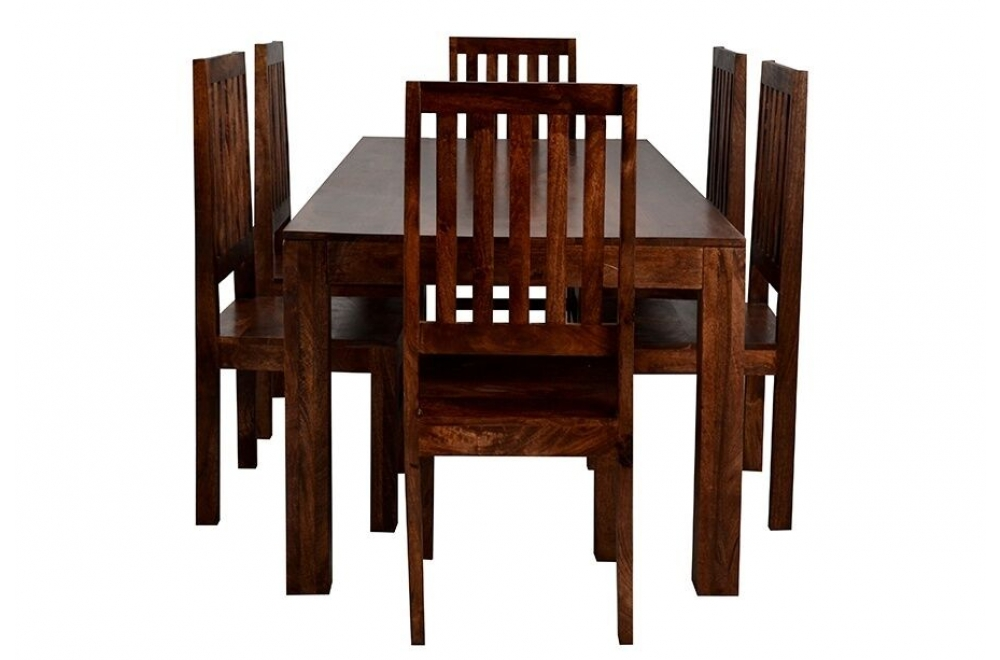 Indian Hub Toko Dark Mango Large Dining Table From The Bed Station With Indian Dining Room Furniture (Image 18 of 25)