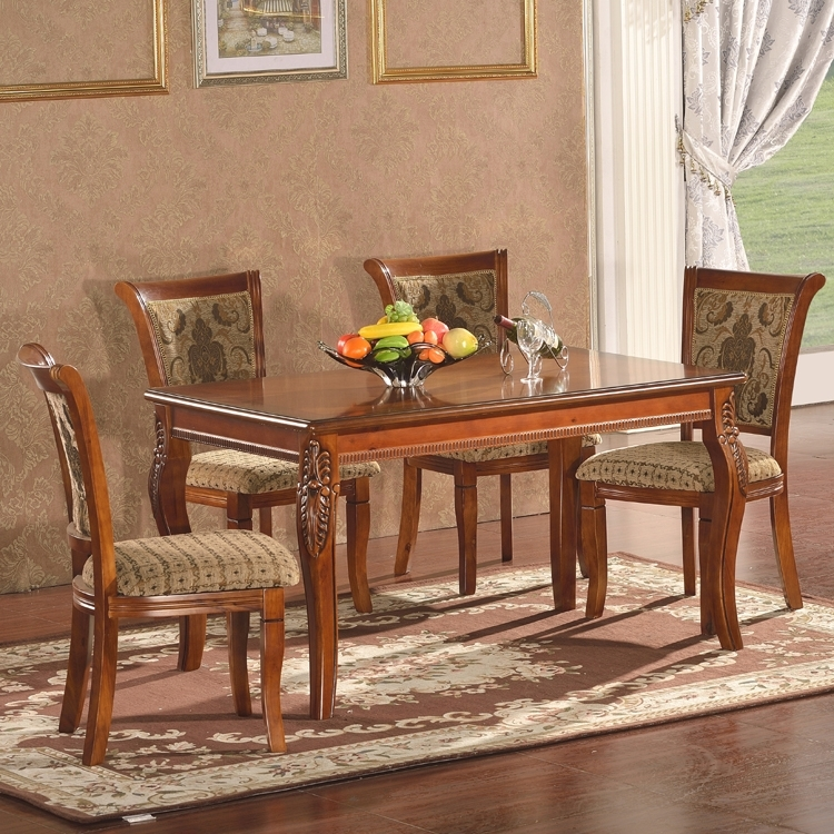 Indian Style Dining Tables Brown Color 100% Solid Wooden Tree Daing In Indian Dining Tables (View 1 of 25)