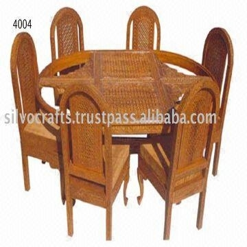 Indian Teak Wood Hand Carved Dining Room Set & Restaurant Furniture Inside Indian Dining Chairs (Image 13 of 25)