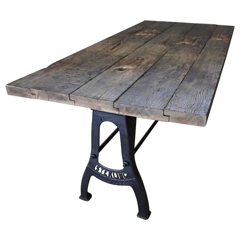 Industrial Brushed Metal Dining Table Early 20Th Century At 1Stdibs With Regard To Brushed Metal Dining Tables (Image 10 of 25)