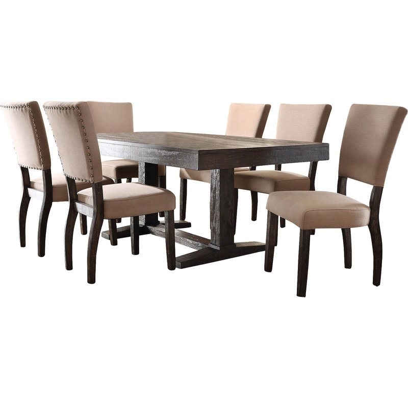 Infini Furnishings Isabella 7 Piece Dining Set & Reviews | Wayfair Pertaining To Isabella Dining Tables (View 13 of 25)