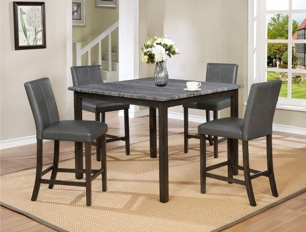 Infini Furnishings Kellie 6 Piece Dining Set In Jameson Grey 5 Piece Counter Sets (Image 15 of 25)