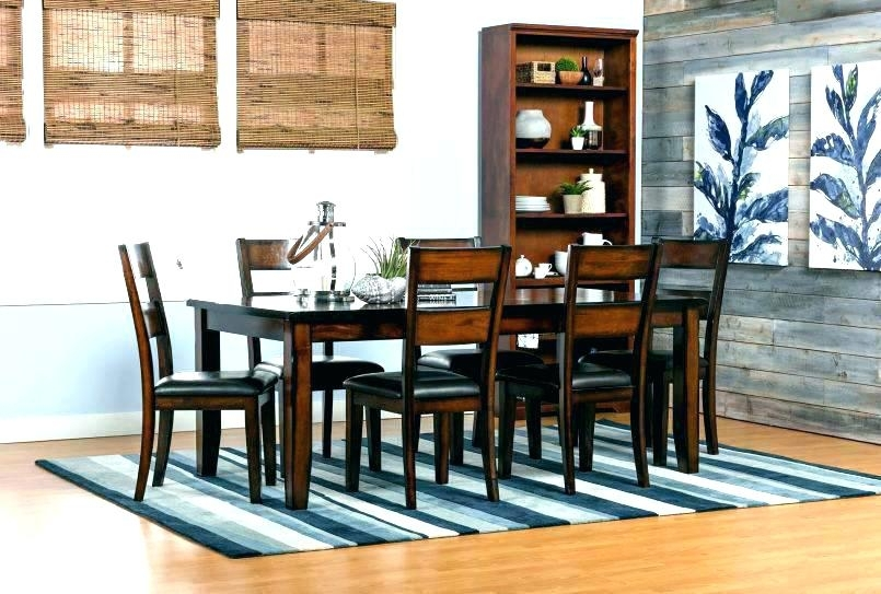 Innovative Decoration Living Spaces Dining Room Tables Large Dining Pertaining To Caira 9 Piece Extension Dining Sets With Diamond Back Chairs (Image 11 of 25)