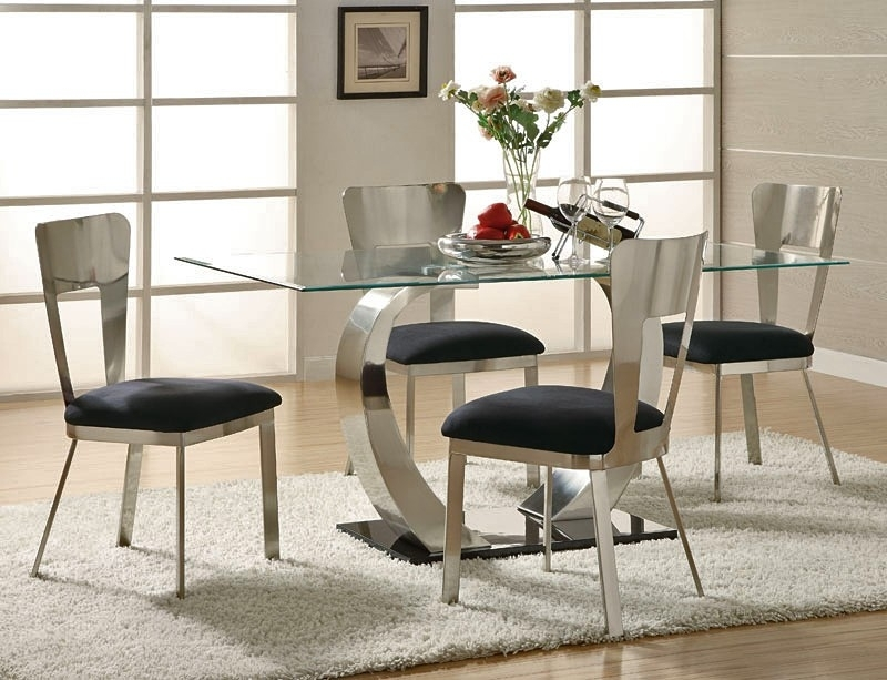 Inspiration Modern Dining Room Sets — Bluehawkboosters Home Design Throughout Contemporary Dining Room Tables And Chairs (View 10 of 25)