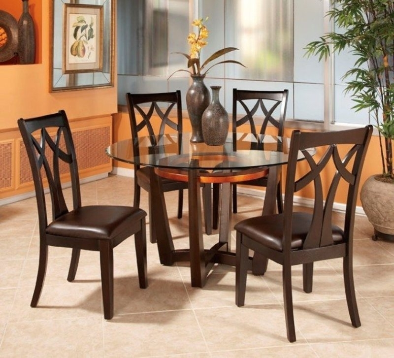 Inspiring Dining Table Set 4 Chairs Glass Dining Table And Chairs Pertaining To Cheap Glass Dining Tables And 4 Chairs (View 25 of 25)