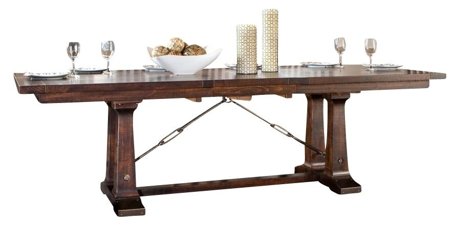 Intercon Furniture Hayden Trestle Dining Table In Rough Sawn with Hayden Dining Tables