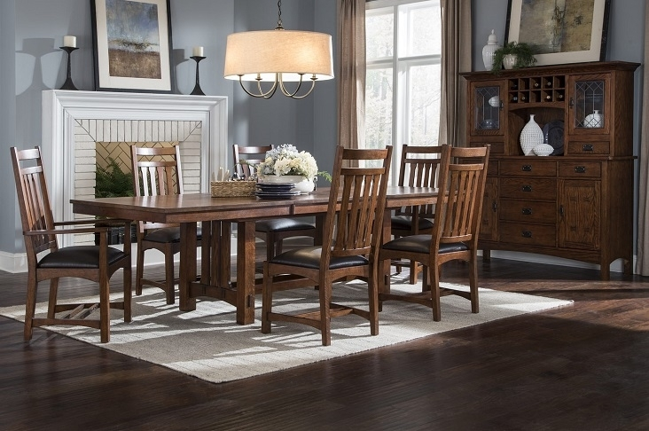 Intercon Furniture Oak Park Dining Room Collectiondining Rooms Pertaining To Craftsman 7 Piece Rectangle Extension Dining Sets With Arm & Side Chairs (Image 17 of 25)