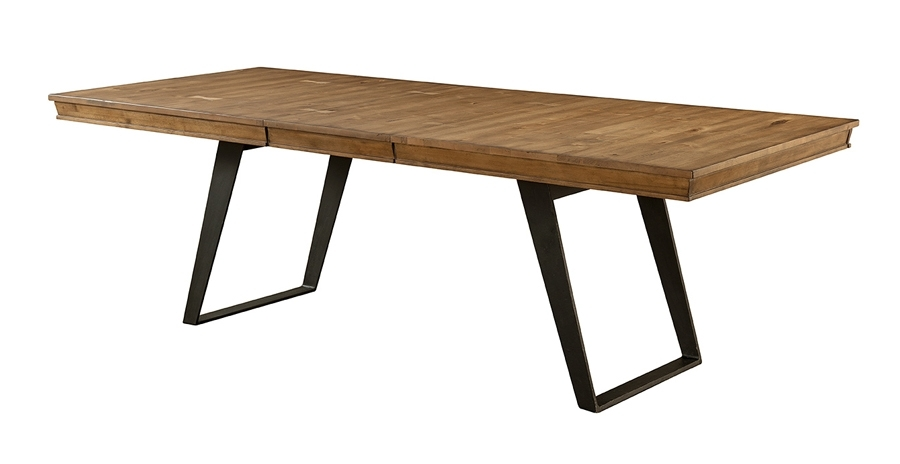 Intercon|Solid Birch Wood & Iron Nantucket Extension Dining Table Regarding Craftsman Rectangle Extension Dining Tables (Image 16 of 25)