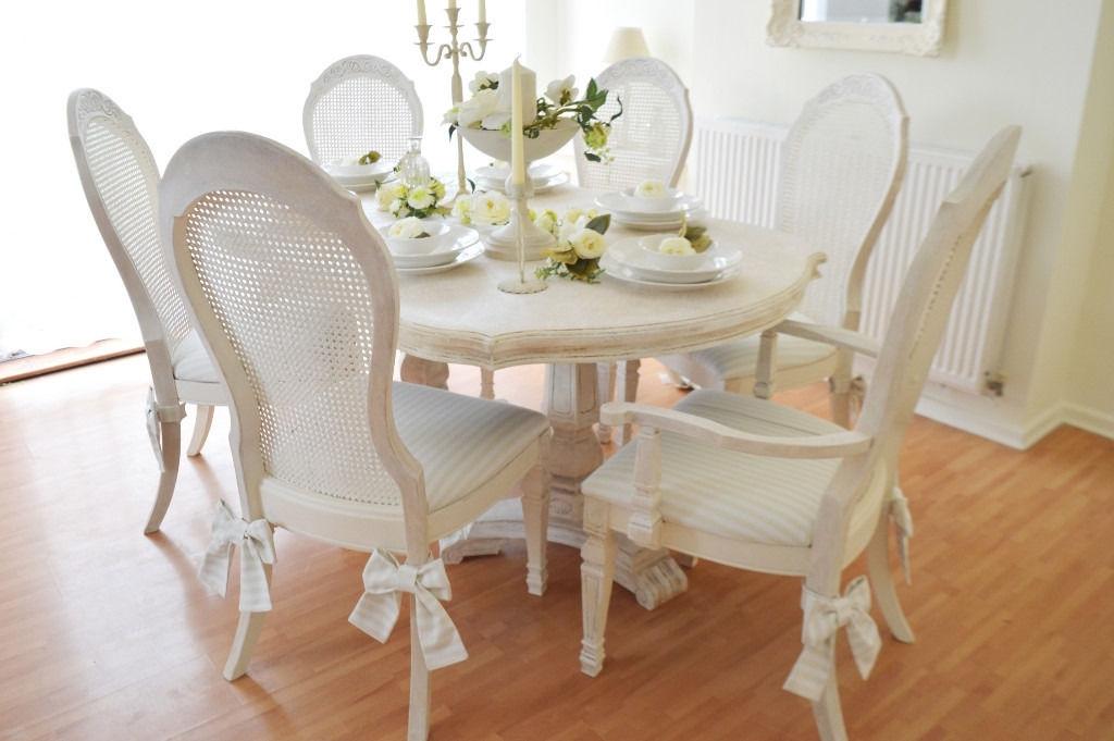 Interior. Shabby Chic Dining Set: Best Shabby Chic Dining Table And with Shabby Chic Dining Chairs