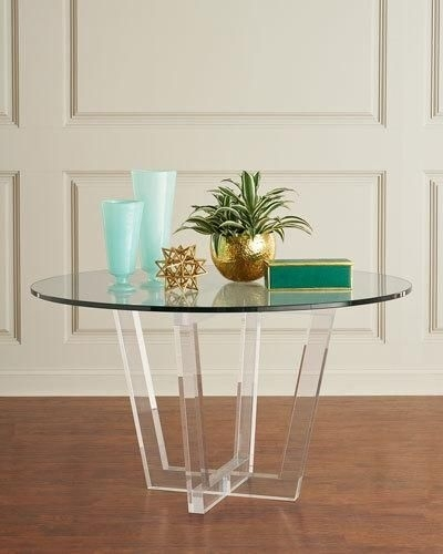 Interlude Home Lovey Acrylic Round Dining Table   Products   Pinterest Inside Acrylic Round Dining Tables (View 20 of 25)