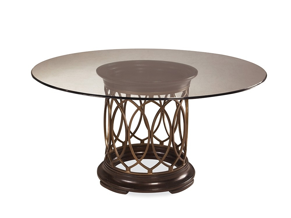 Intrigue Glass Top Dining Table Inside Valencia 60 Inch Round Dining Tables (Image 6 of 25)