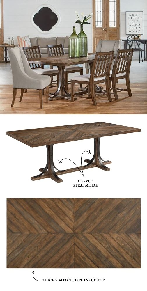 Introducing Magnolia Home Furniture – Part 3 Inside Magnolia Home Shop Floor Dining Tables With Iron Trestle (Image 6 of 25)