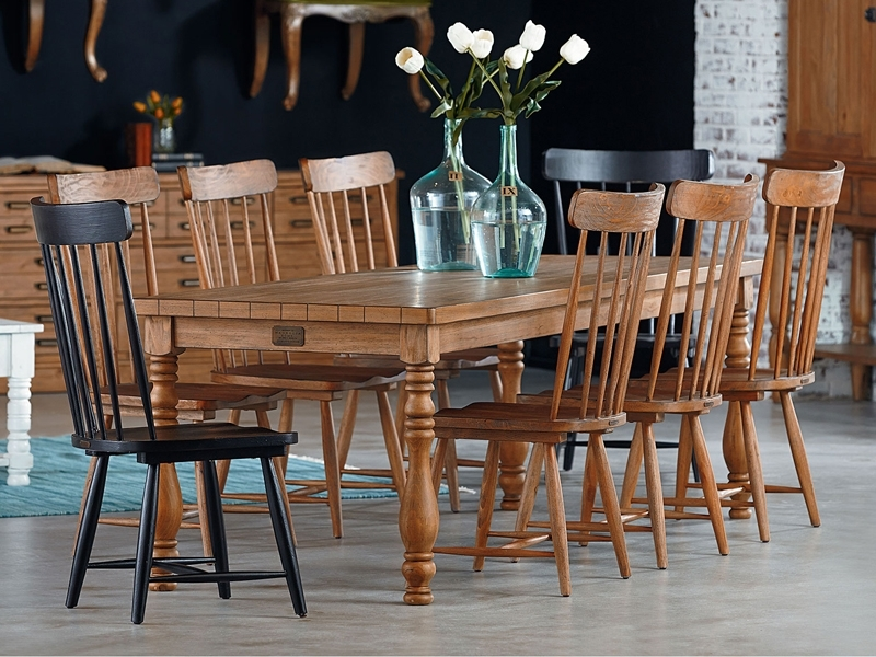 Iron Trestle Dining Tablemagnolia Home For Magnolia Home Shop Floor Dining Tables With Iron Trestle (Image 8 of 25)