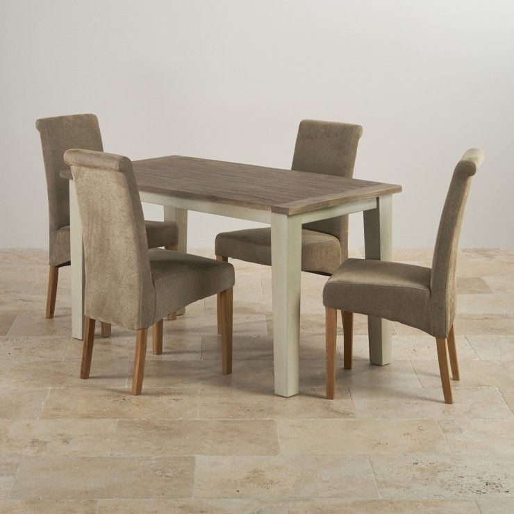 Isabella Brushed Acacia Dining Set – 4Ft Table With 4 Chairs | Mme Pertaining To Isabella Dining Tables (View 5 of 25)