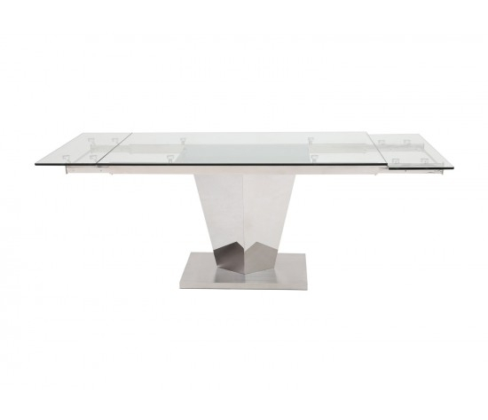 Isabella Extending Clear Glass Dining Table 140Cm – 200Cm – Modish For Isabella Dining Tables (View 16 of 25)