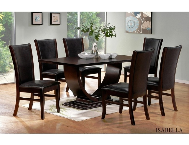 Isabella Modern Dining Room Set Regarding Contemporary Dining Tables Sets (View 3 of 25)