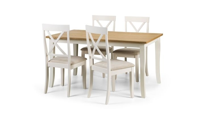 Isabella Rectangular Dining Table & 4 Chairs – Scs With Isabella Dining Tables (View 11 of 25)