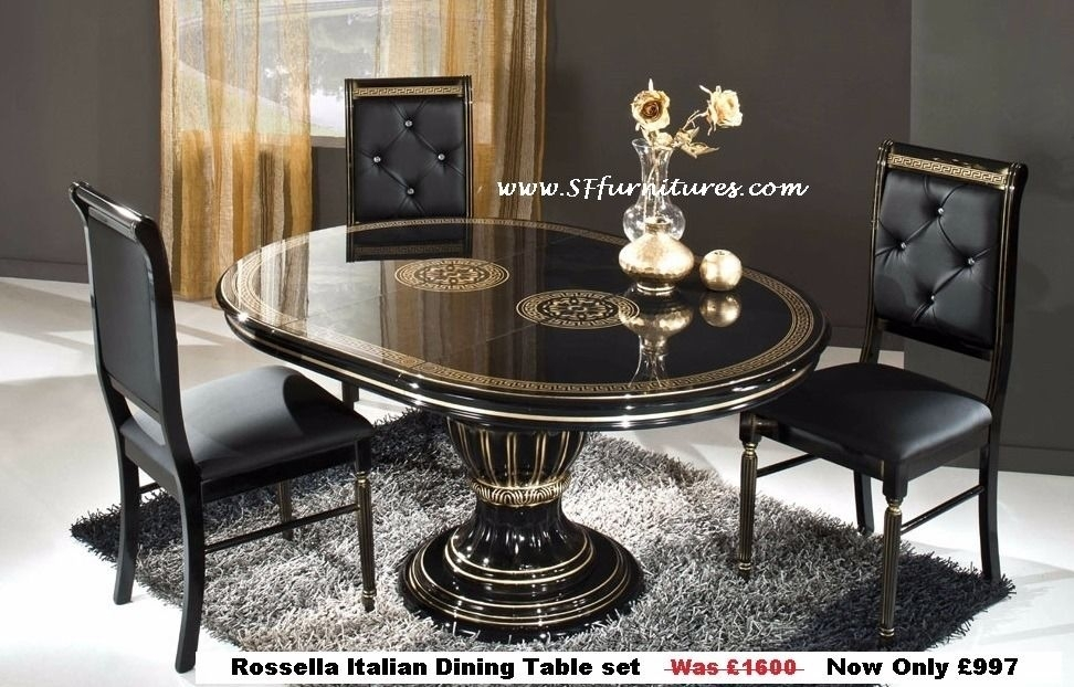 Italian Dining Table And Chairs, Italian Dining Table Set, Italian Within Italian Dining Tables (Image 12 of 25)