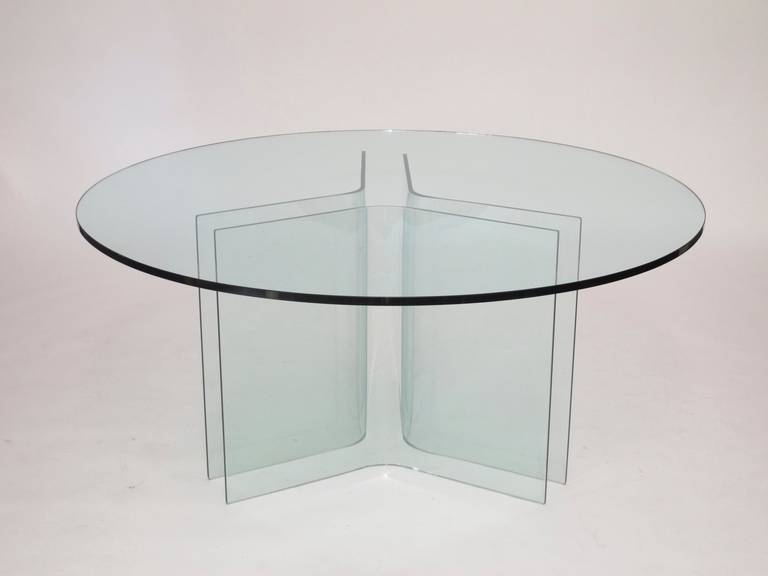 Italian Round Glass Dining Table At 1Stdibs In Curved Glass Dining Tables (Image 17 of 25)
