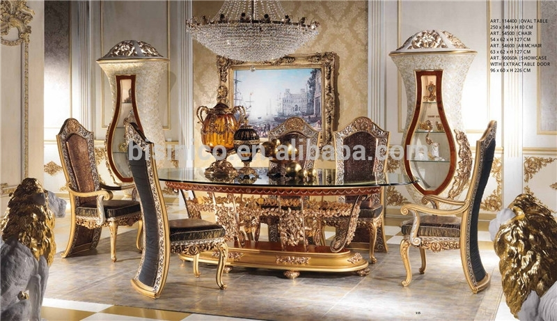 Italian Royal Dining Room Furniture Set,imperial Wood Carving And Intended For Imperial Dining Tables (View 6 of 25)