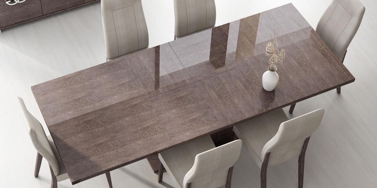 Italy Made Prestige Extendable Walnut Dining Table Boston Regarding Italian Dining Tables (View 20 of 25)