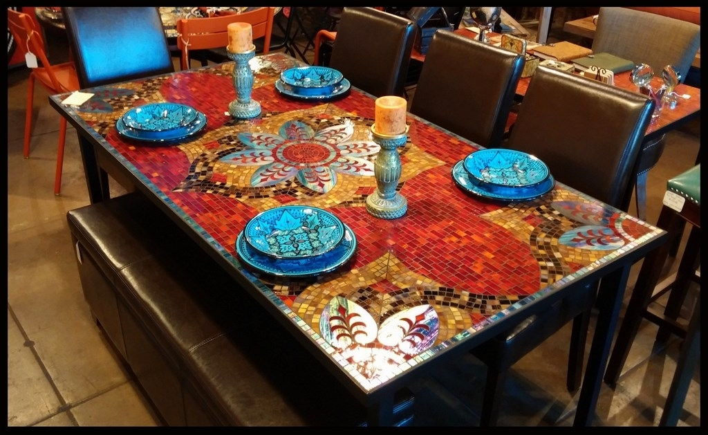 Item For Sale At Modhare Tile Dining Table Freedom To In Remodel 10 Within Mosaic Dining Tables For Sale (Image 9 of 25)