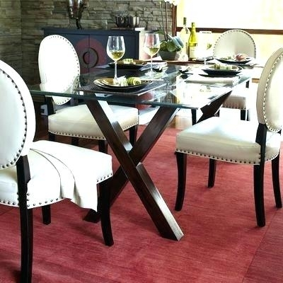 Ivory Dining Chairs White Leather Dining Chairs Contemporary Fence Within Ivory Leather Dining Chairs (Image 13 of 25)