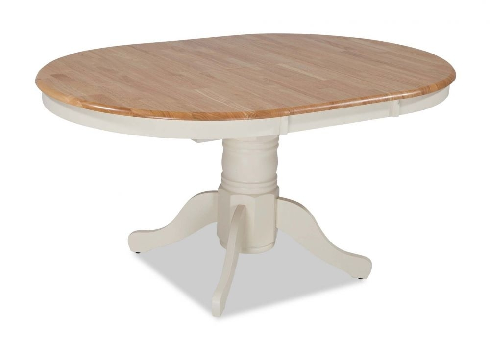 Ivory Frame Round Top Extendable Dining Table – Wyatt – Ez Living In Wyatt Dining Tables (View 12 of 25)
