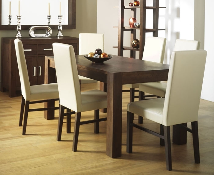Ivory Leather Parsons Dining Chairs | Dining Chairs Design Ideas Pertaining To Ivory Leather Dining Chairs (Image 15 of 25)