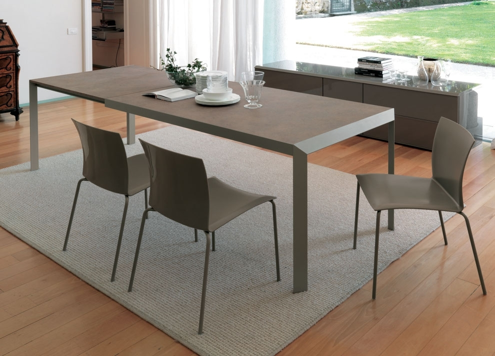 Izac Extending Dining Table | Contemporary Extending Dining Tables Inside Extendable Dining Tables (Image 17 of 25)