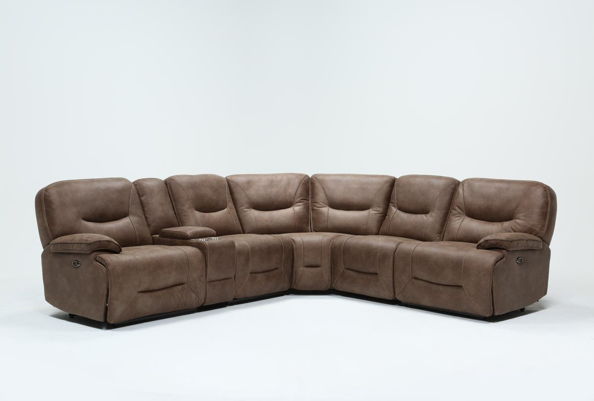 Featured Image of Declan 3 Piece Power Reclining Sectionals With Left Facing Console Loveseat