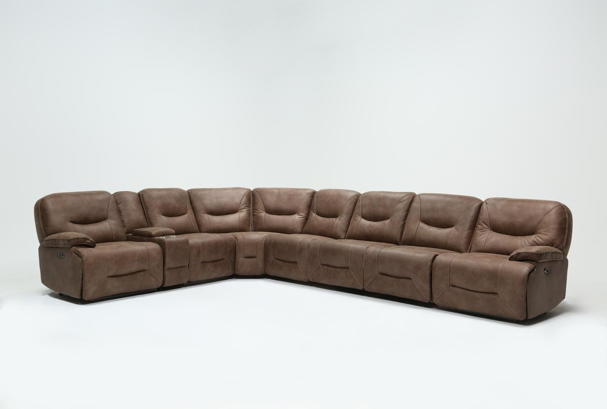 Jackson 6 Piece Power Reclining Sectional W/ Sleeper | Living Spaces Regarding Jackson 6 Piece Power Reclining Sectionals (Image 12 of 25)