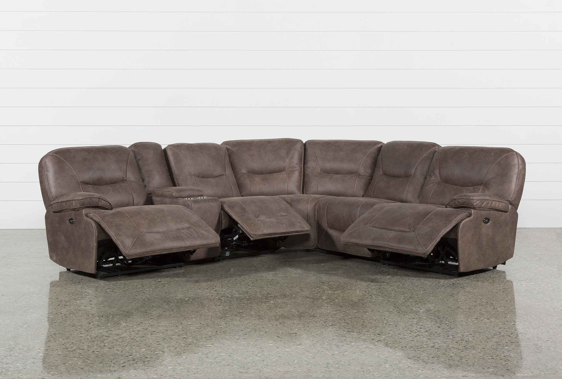 Jackson 6 Piece Power Reclining Sectional Within Jackson 6 Piece Power Reclining Sectionals (Image 14 of 25)