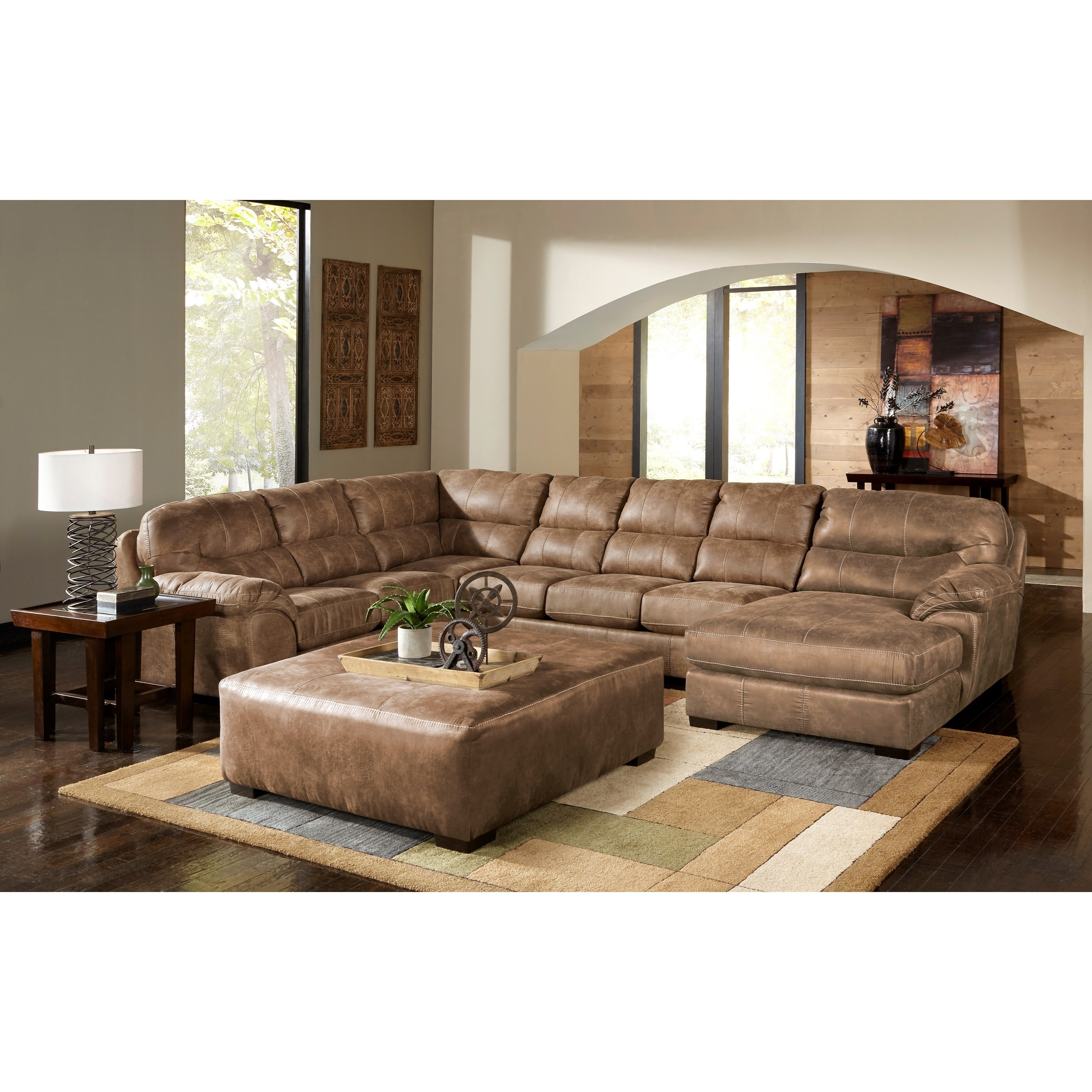 Jackson Furniture Grant Sectional Sofa Wayside Products Color Silt Throughout Jackson 6 Piece Power Reclining Sectionals With  Sleeper (Image 16 of 25)