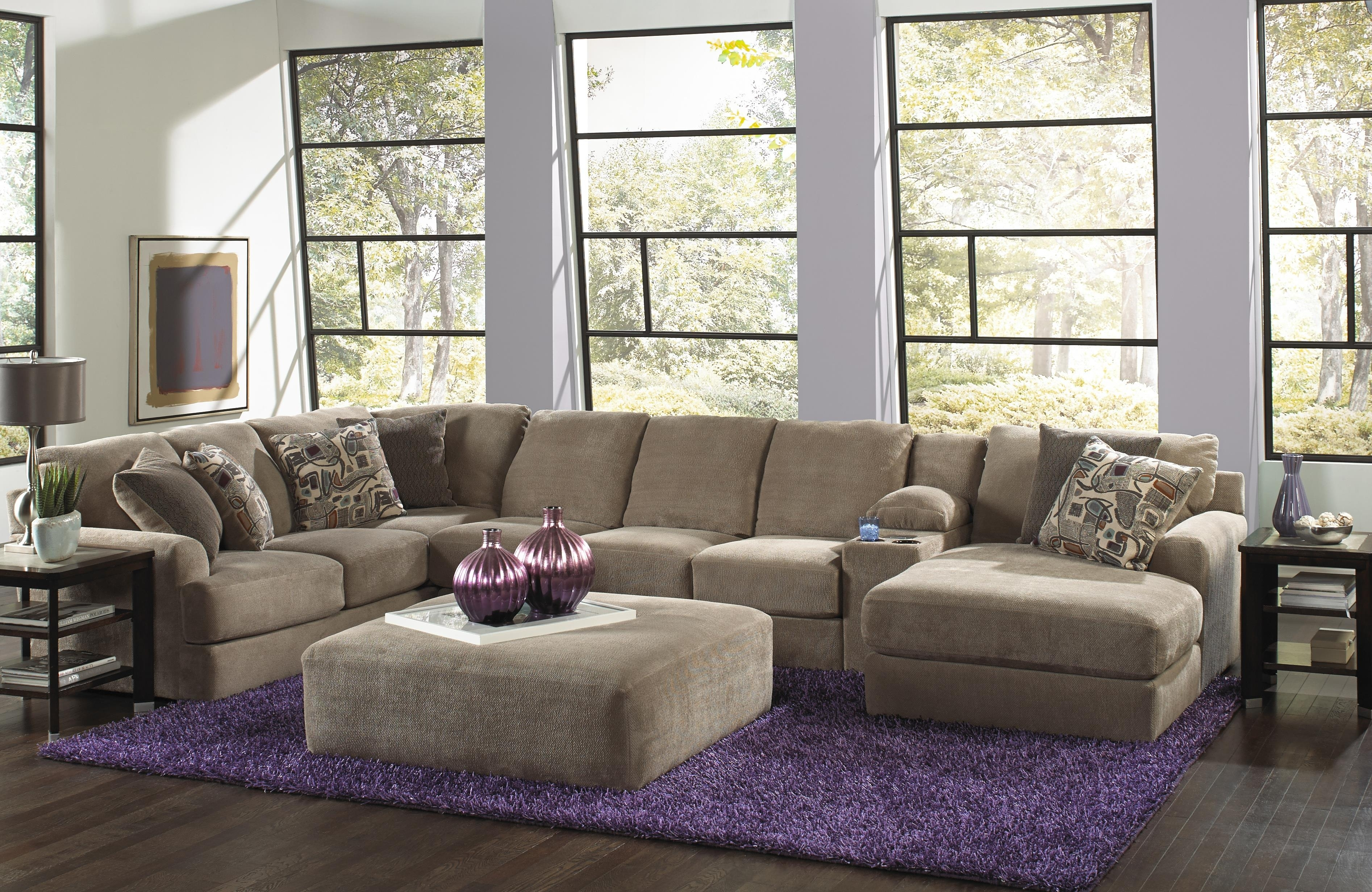 Jackson Furniture Malibu Six Seat Sectional Sofa With Console With Regard To Jackson 6 Piece Power Reclining Sectionals (Image 15 of 25)