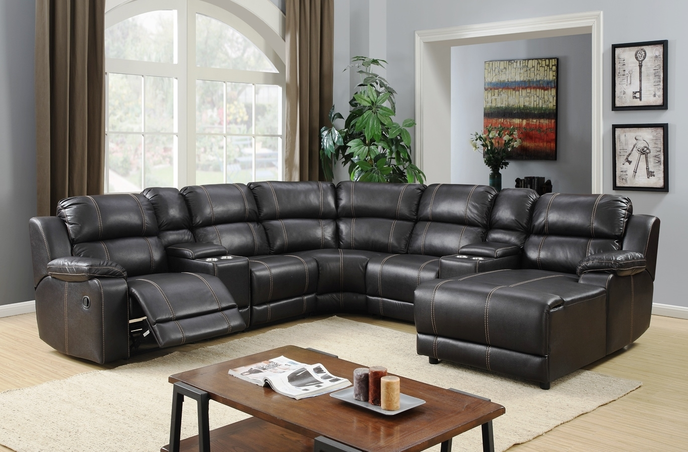 Jackson Reclining Sectional For Jackson 6 Piece Power Reclining Sectionals (Image 16 of 25)