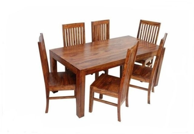 Jaipur  Indian Solid Sheesham Wood – 120Cm Dining Table And 4 Chairs With Regard To Sheesham Dining Tables And 4 Chairs (Image 9 of 25)