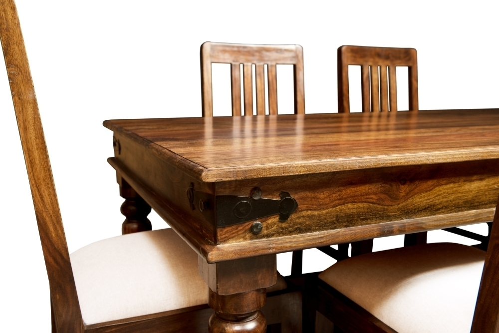 Jali Sheesham Wood Rectangular Dining Table - 180Cm with regard to Sheesham Wood Dining Tables